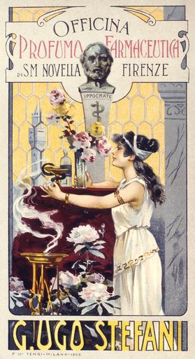 Poster design for Profumo Farmaceutica, Florence
