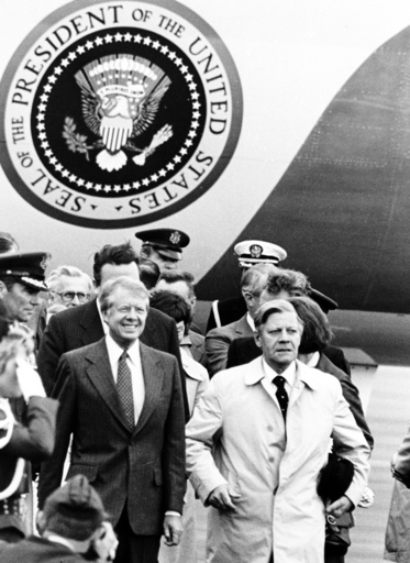 US President Carter in Frankfurt on the Main