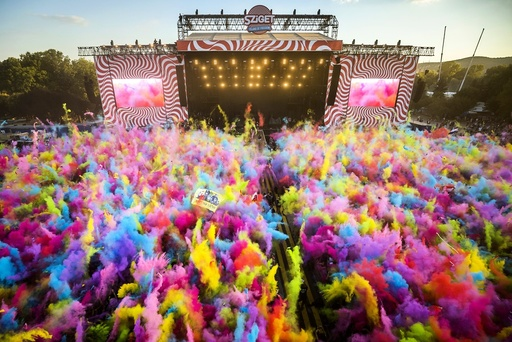 25th Sziget Festival is held in Hungary
