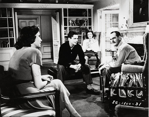 BEST YEARS OF OUR LIVES, THE (1946), directed by WILLIAM WYLER. TERESA WRIGHT; FREDRIC MARCH; MYRNA LOY; MICHAEL HALL.