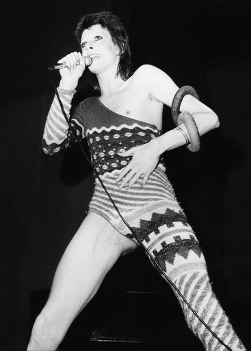 David Bowie (b1947) performing at the Odean Theatre, Hammersmith, 1973.