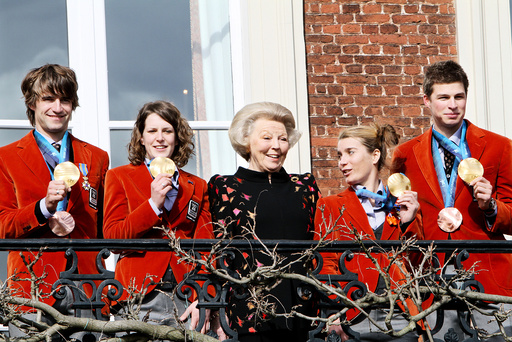 Queen Beatrix receives Olympic athletes