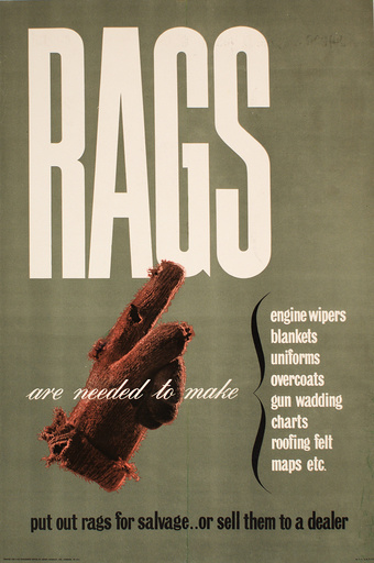 Poster requesting Rags for salvage