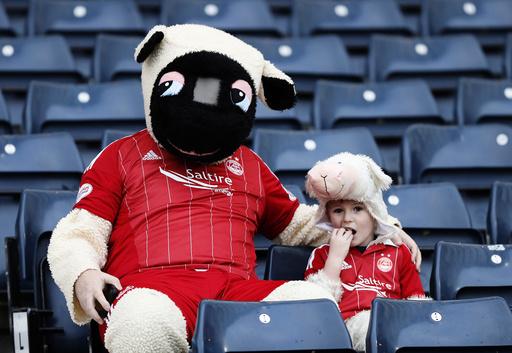 Aberdeen fans before the match