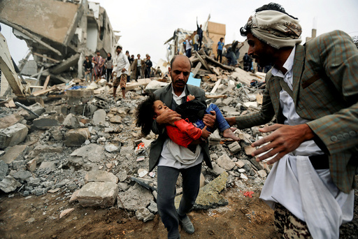 A Picture and its Story: Girl survives air strike that killed her family