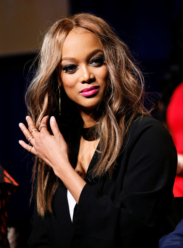 Model Tyra Banks participates in a panel for The New Celebrity Apprentice in Universal City