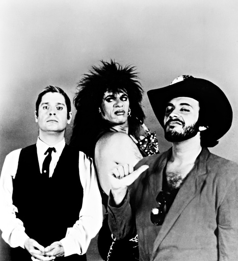 TRICK OR TREAT, l-r: Ozzy Osbourne, Tony Fields, Gene Simmons, 1986, ©De Laurentiis Entertainment