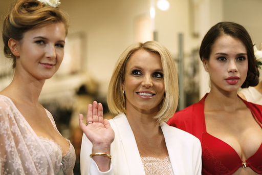 Singer Spears launches lingerie collection 'The Intimate Britney Spears Spring/Summer 2015' at a shopping mall in Oberhausen