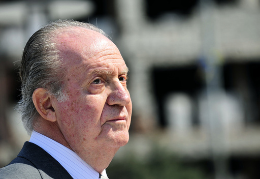 File photo of Spain's King Juan Carlos attending the official opening ceremony of the new Spanish square in Mostar