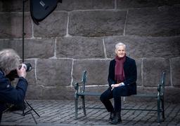 Ap-leder Jonas Gahr Støre blir fotografert i forkant av det kommende landsmøtet. Foto: Ole Berg-Rusten / NTB