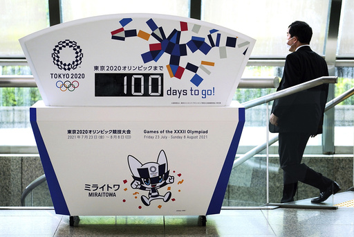 Det er 100 dager til OL i Tokyo starter. Foto: Eugene Hoshiko / AP / NTB
