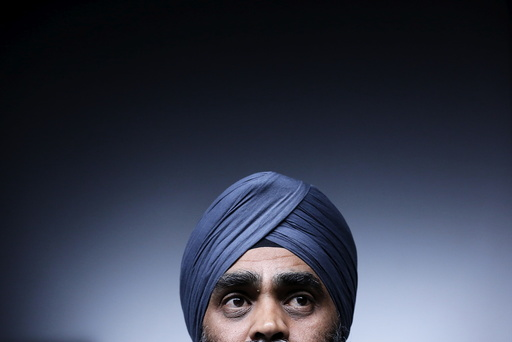 Canada's Defence Minister Sajjan takes part in a news conference in Ottawa