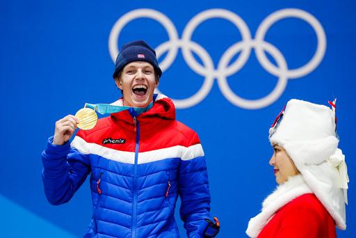 Vinter-OL. Olympiske leker i Pyeongchang 2018. Medaljeseremoni.