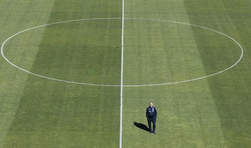 Fotballandslaget trener før privatlandskampen mot Panama