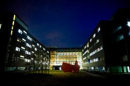 En koronasmittet person døde torsdag ved Akershus universitetssykehus. Foto: Stian Lysberg Solum / NTB