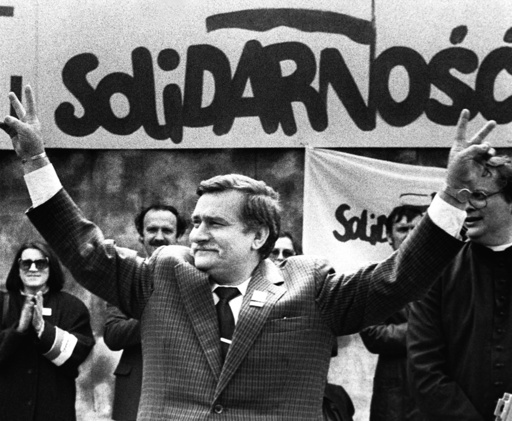 Former Polish President and Solidarity founding leader Lech Walesa File photo