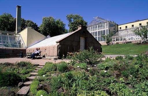 Drivhus ved Universitetets Botaniske hage på Tøyen i Oslo. Botanisk Hage.