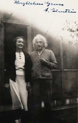 Margarita Ivanovna Konenkova, nee Vorontsova (1896-1980) and Albert Einstein (1879-1955).