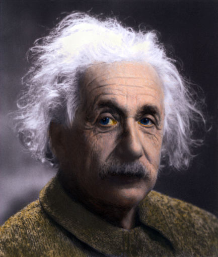 Albert Einstein (1879-1955) portrait taken at Princeton University in 1947. Einstein ended his