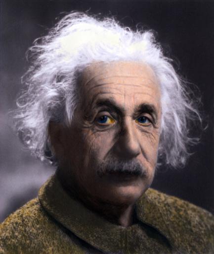 Albert Einstein (1879-1955) portrait taken at Princeton University in 1947. Einstein ended his
