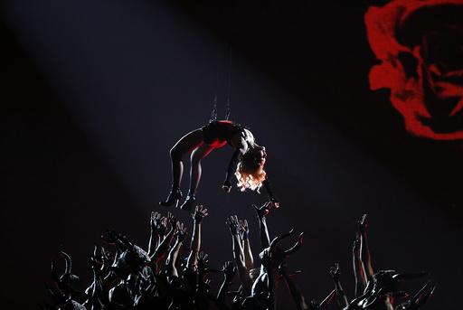 Madonna performs