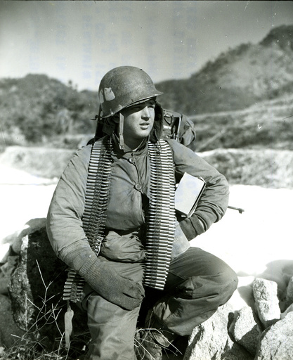 Korea-Krieg / US-Soldat / Foto 1951 - Korean War, US soldier /photo 1951 -