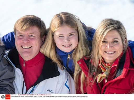 Dutch royal skiing holiday photocall, Lech, Austria - 22 Feb 2016