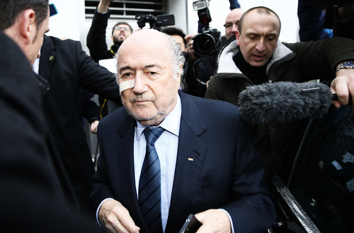 FIFA President Blatter arrives for a news conference in Zurich