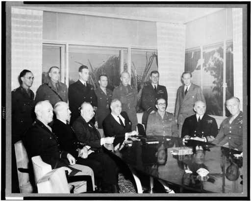 Konferenz v.Casablanca 1943/Gruppenbild - Casablanca Conference 1943 / Group Photo -