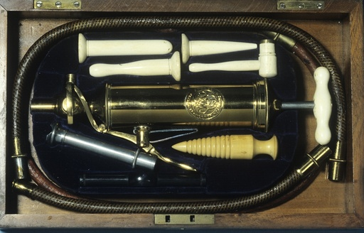 Enema and stomach pump, circa 1880