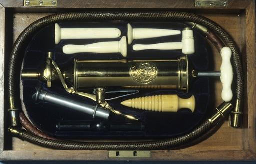 Enema and stomach pump, circa 1880
