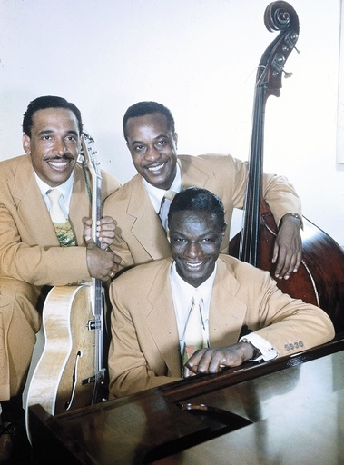 The Nat King Cole Trio: Oscar Moore, Nat King Cond and Johnny Miller, circa 1949.