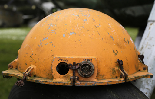 A flight data recorder from an unknown public transport aircraft is seen in private aviation museum in the village of Zruc, near Plzen