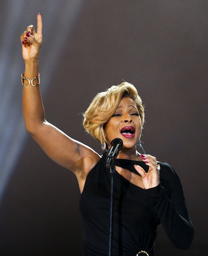 Mary J. Blige performs during the Nobl Peace Prize concert in Oslo