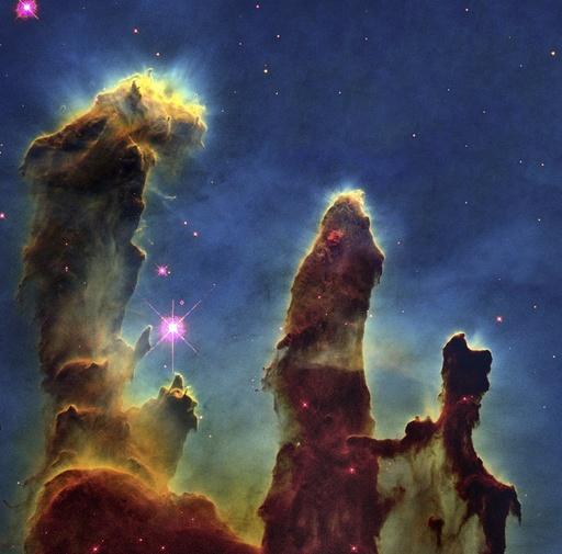Gas pillars in the Eagle Nebula