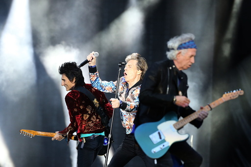 The Rolling Stones in concert in Manchester