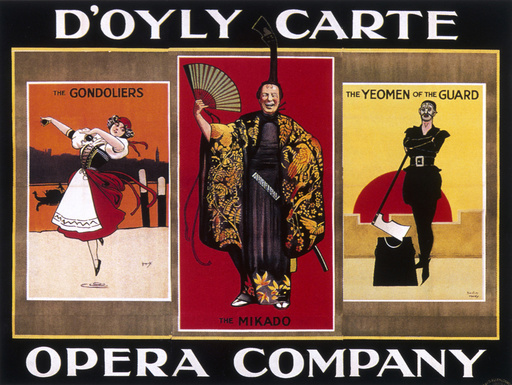 Poster advertising the D'Oyly Carte Opera Company