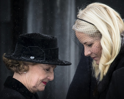 Norwegian Royals atttend the funeral of Johan Martin Ferner