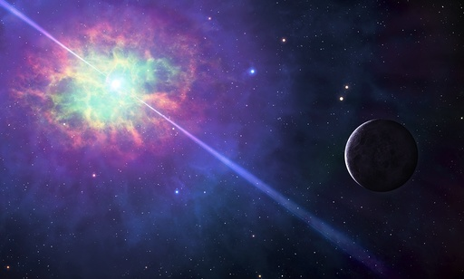Artwork of a planet orbiting a pulsar
