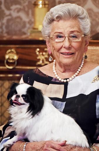 Bilde frigitt fra Det kongelige hoff i anledning at prinsesse Astrid, fru Ferner, fyller 85 år 12.