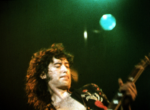 THE SONG REMAINS THE SAME, Jimmy Page of Led Zeppelin, 1976