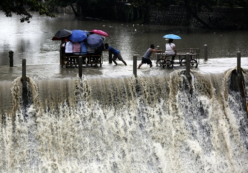 Typhoon signals raised over Northern Luzon Island in the Philippines