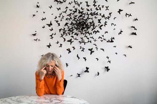 Blythe Danner at the Morgan Lehman gallery in New York.