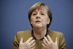 Tysklands statsminister Angela Merkel har positive forventninger til samarbeidet med USAs nye president Joe Biden. Foto: AP / NTB