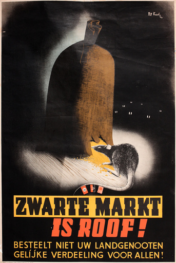 Dutch poster warning against the Black Market