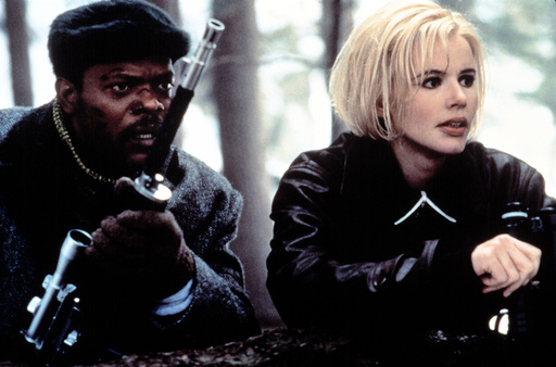 THE LONG KISS GOODNIGHT, Samuel L. Jackson, Geena Davis, 1996. (C) New Line Cinema/ Courtesy: Everet