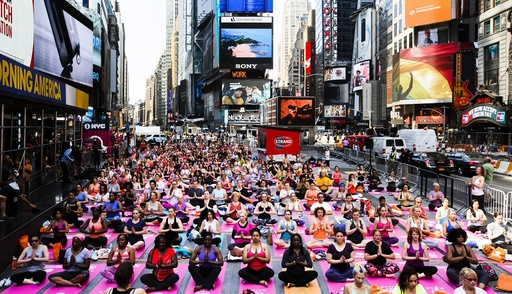 Summer Solstice Yoga Class in Times Square