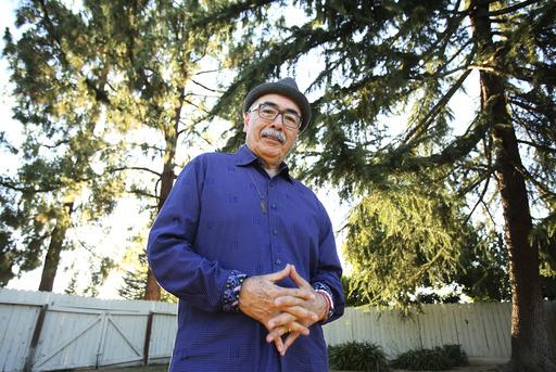 Juan Felipe Herrera at his home in Fresno, Calif.