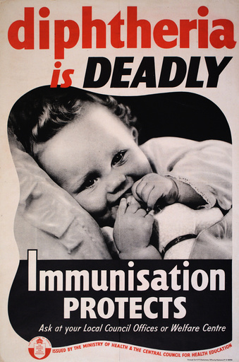 Poster: Diphtheria is Deadly, Immunisation Protects