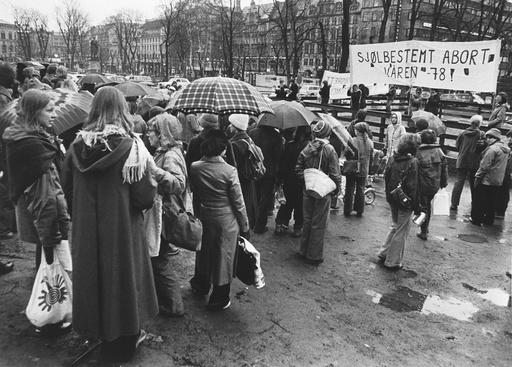 Demonstrasjon for selvbestemt abort. Oslo.